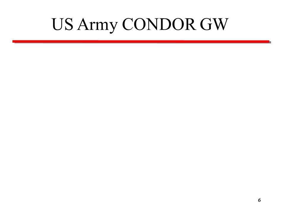 6 US Army CONDOR GW