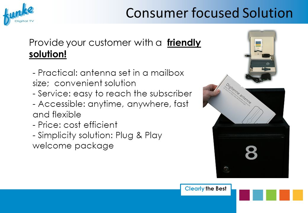 Clearly the Best Consumer focused Solution Provide your customer with a friendly solution.