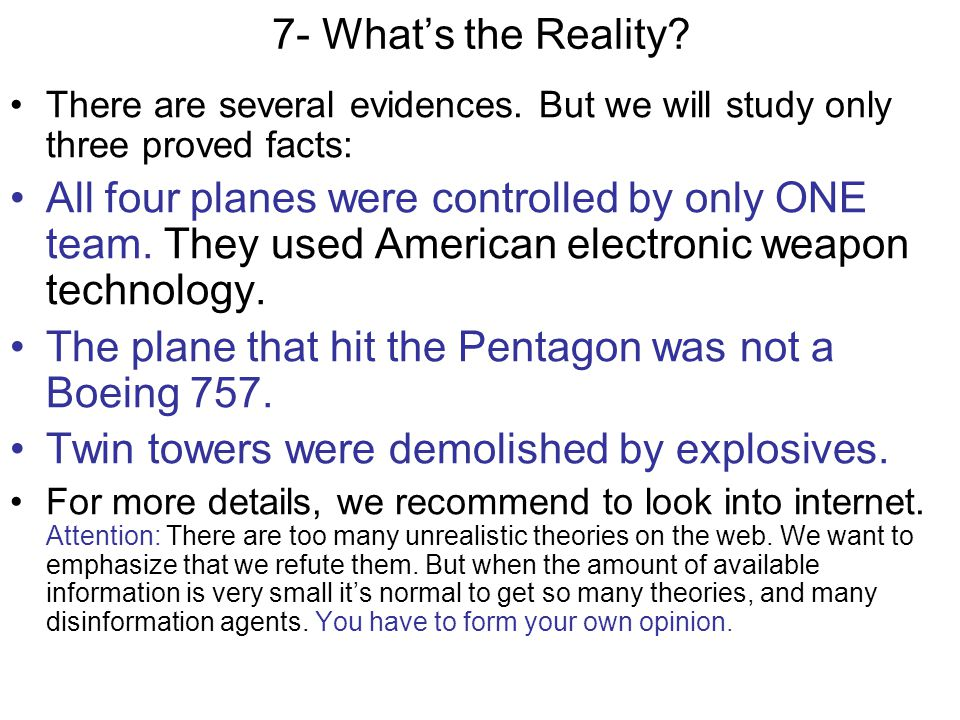 7.1- End of 2002, MEYSSAN/Pentagate Meyssans missile theory is wrong.