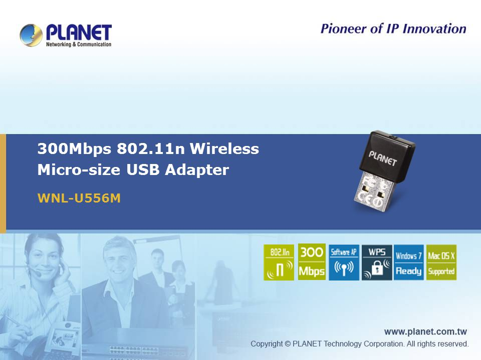 300Mbps 802.11n Wireless Micro-size USB Adapter WNL-U556M