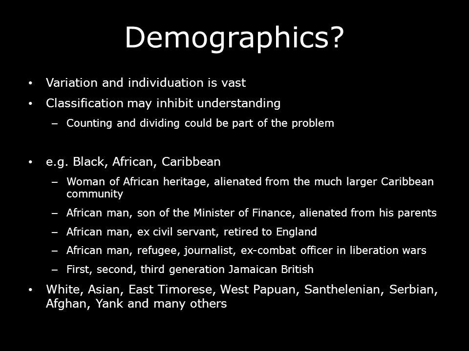 Demographics.