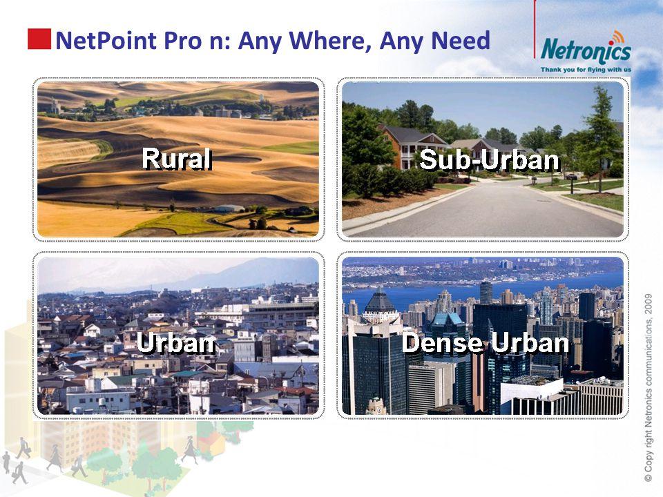 NetPoint Pro n: Any Where, Any Need