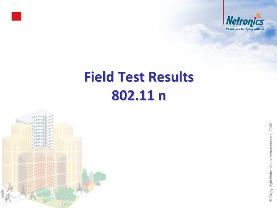 Field Test Results 802.11 n