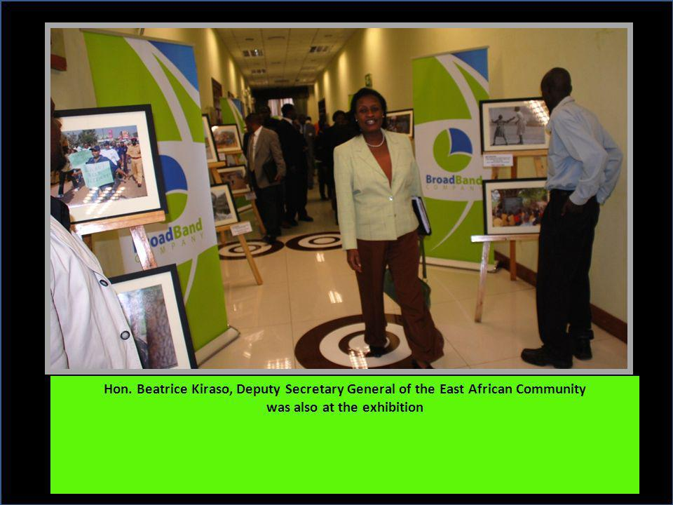 Hon. Beatrice Kiraso, Deputy Secretary General of the East African Community was also at the exhibition