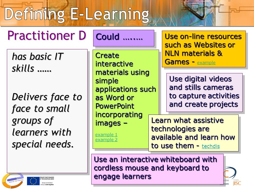 Good practice 4 Use on-line resources such as Websites or NLN materials & Games - Use on-line resources such as Websites or NLN materials & Games - ex