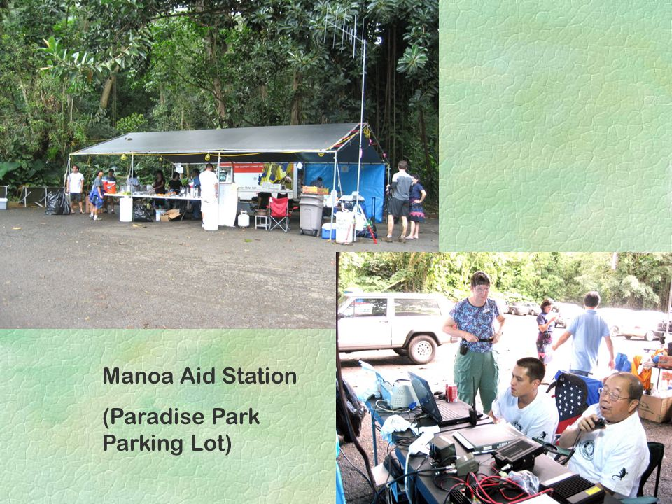 Manoa Aid Station (Paradise Park Parking Lot)