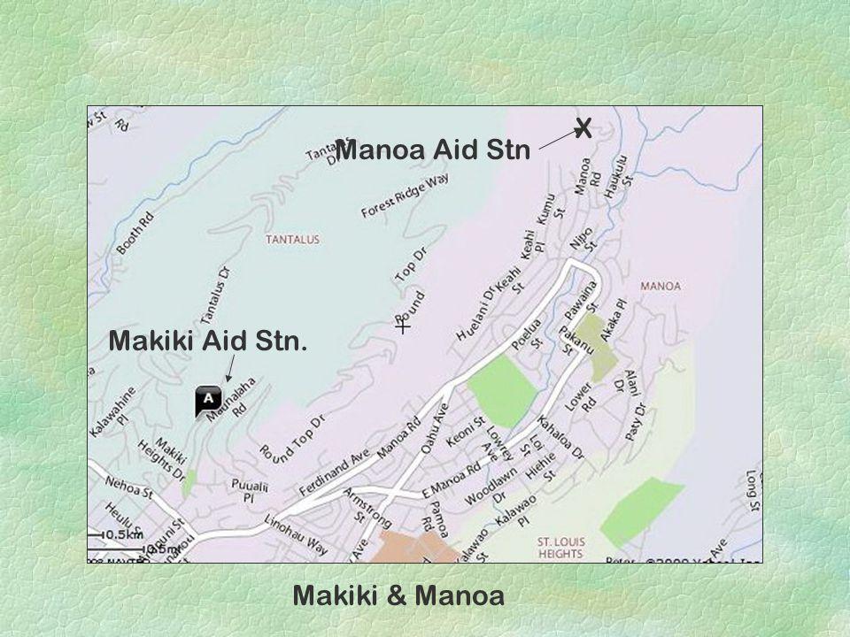 Makiki & Manoa Manoa Aid Stn X Makiki Aid Stn.