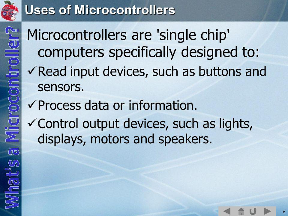 7 Devices that use microcontrollers.