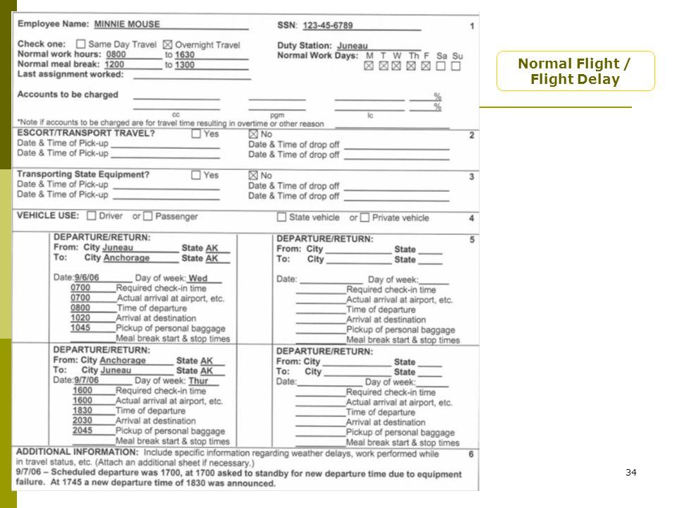 Rev. 7/20/0734 Normal Flight / Flight Delay