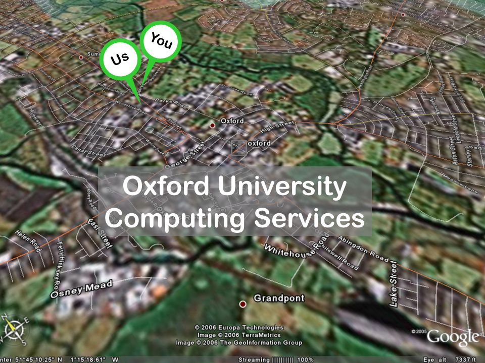 You Oxford University Computing Services Us