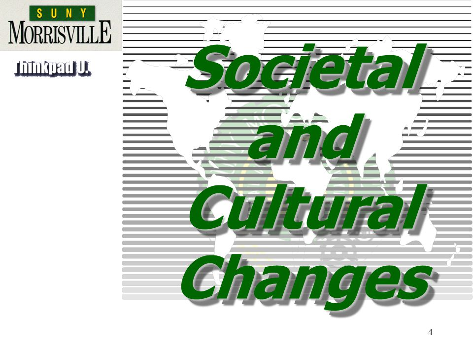 4 Societal and Cultural Changes