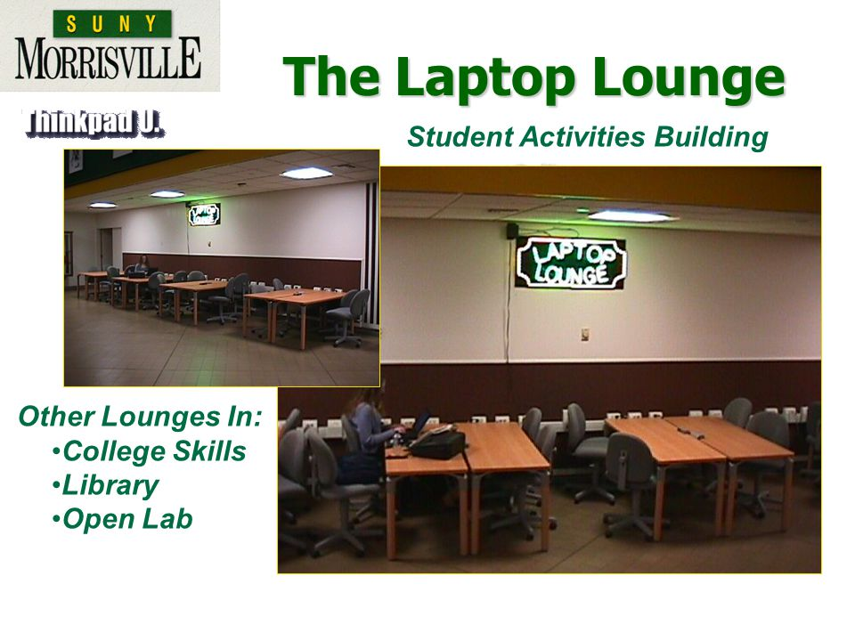 Other Lounges In: College Skills Library Open Lab Student Activities Building The Laptop Lounge
