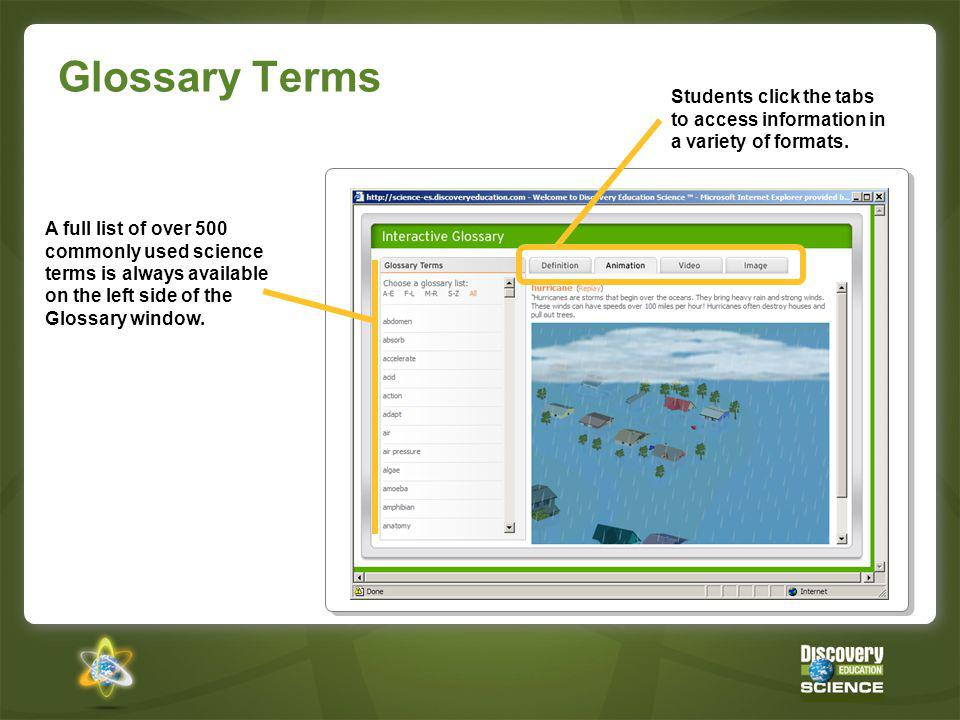Pathways to Science Investigation Concept pages provide pathways through the content.