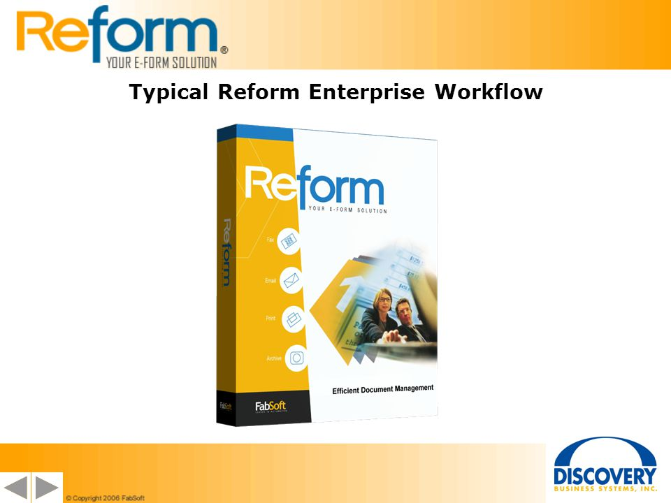 Typical Reform Enterprise Workflow
