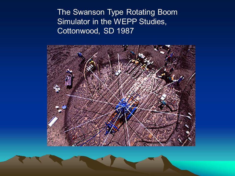 The Swanson Type Rotating Boom Simulator in the WEPP Studies, Cottonwood, SD 1987