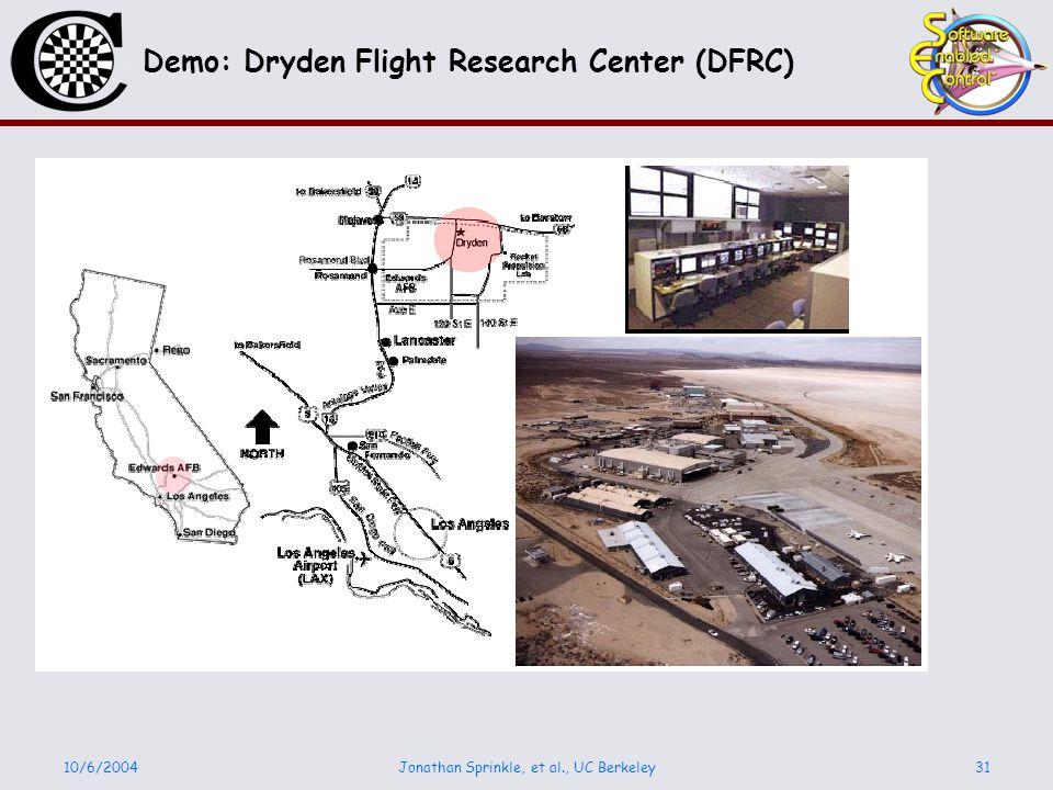 10/6/2004Jonathan Sprinkle, et al., UC Berkeley31 Demo: Dryden Flight Research Center (DFRC)