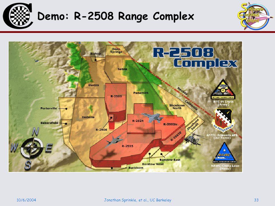 10/6/2004Jonathan Sprinkle, et al., UC Berkeley33 Demo: R-2508 Range Complex