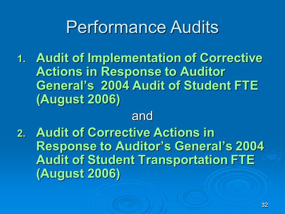 32 Performance Audits 1.