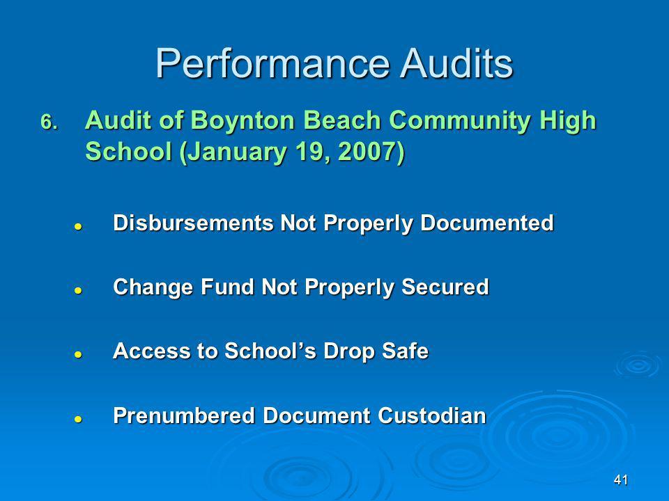 41 Performance Audits 6.