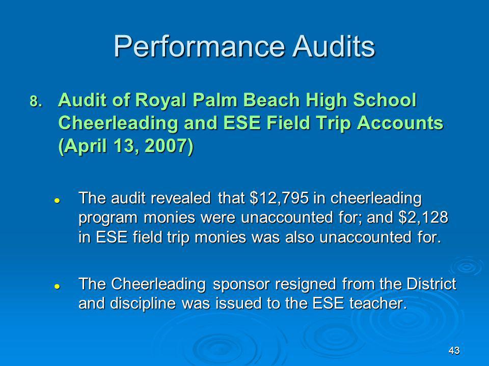 43 Performance Audits 8.