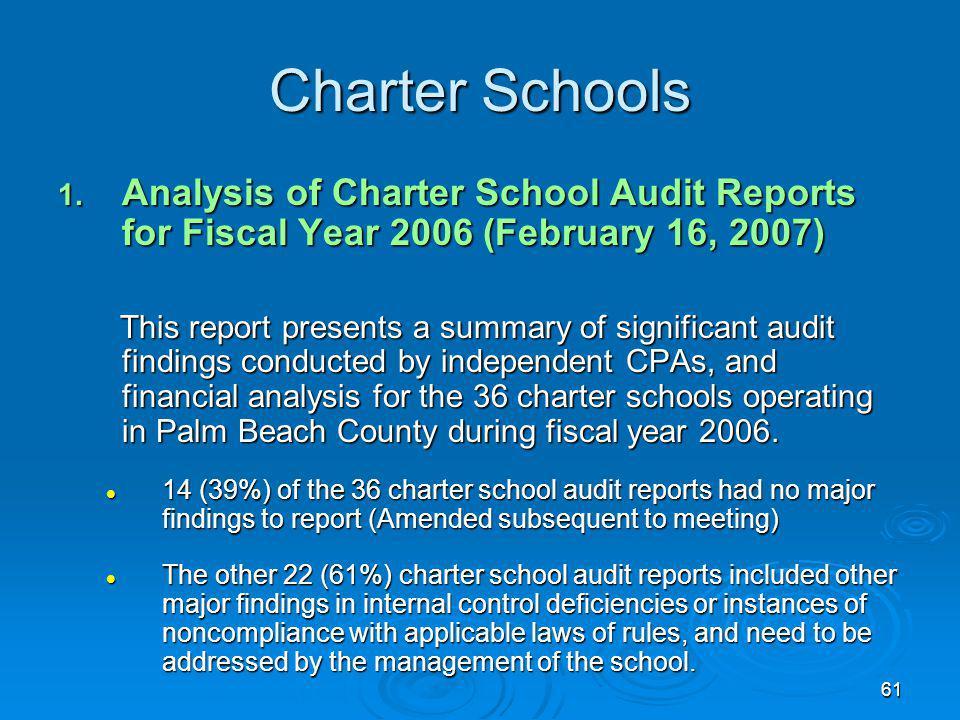 61 Charter Schools 1.