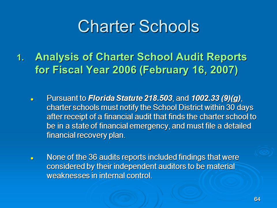 64 Charter Schools 1.