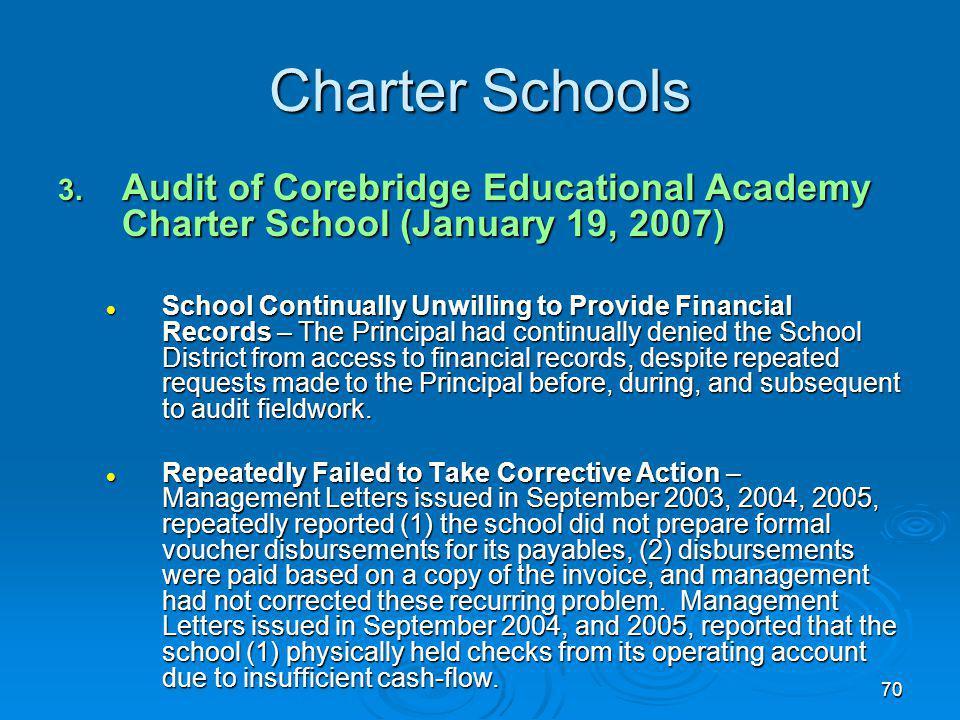 70 Charter Schools 3.