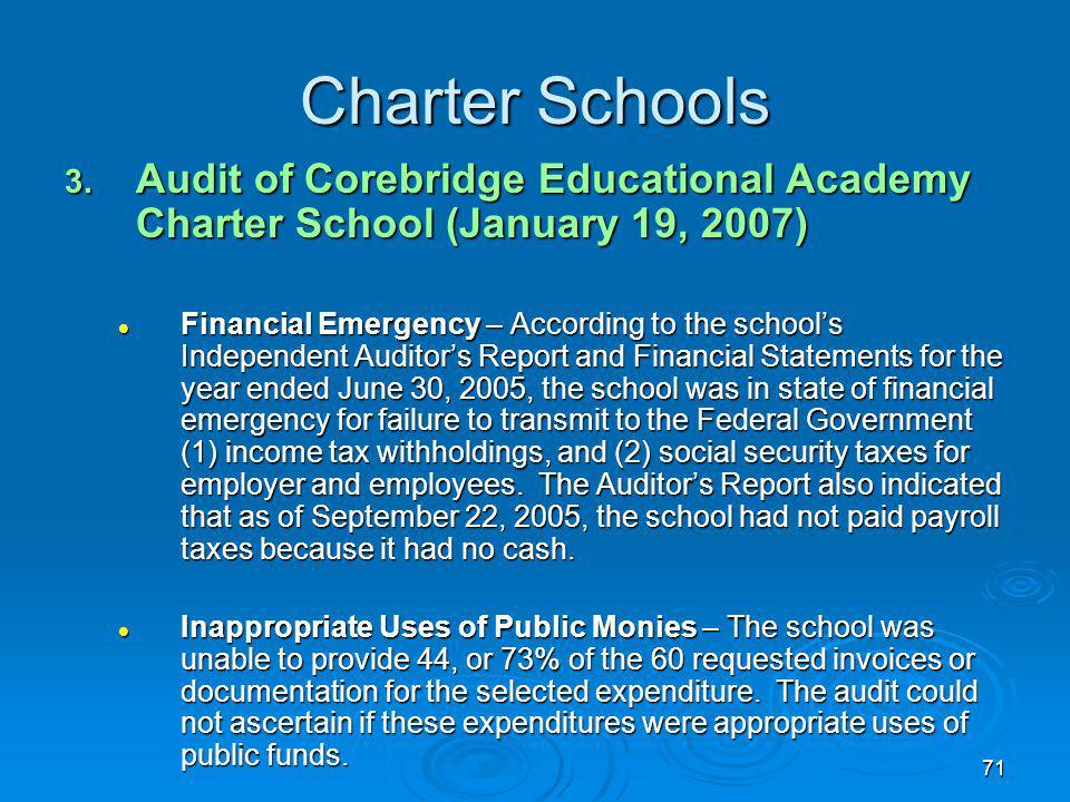 71 Charter Schools 3.