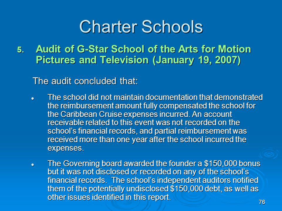 76 Charter Schools 5.