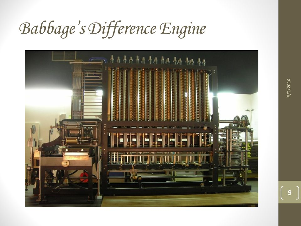 Babbages Difference Engine 6/2/2014 9