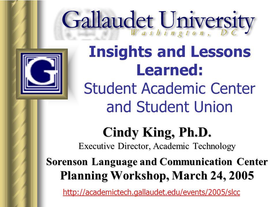 32 http://academictech.gallaudet.edu/events/2005/slcc Faculty Collaboration Room (Speaker Prep Room)