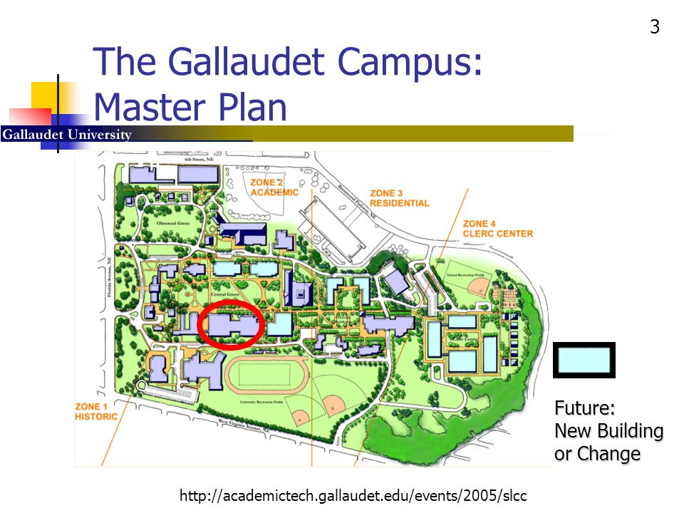 4 http://academictech.gallaudet.edu/events/2005/slcc Gallaudet Learning and Living Deaf, Hard of Hearing, and Hearing Students 10 years classroom design 3 years building planning, 1 year construction 3 years building planning, 1 year construction Student Academic Center Student Union Building OPENED: August 2002 http://sac.gallaudet.edu http://sac.gallaudet.edu