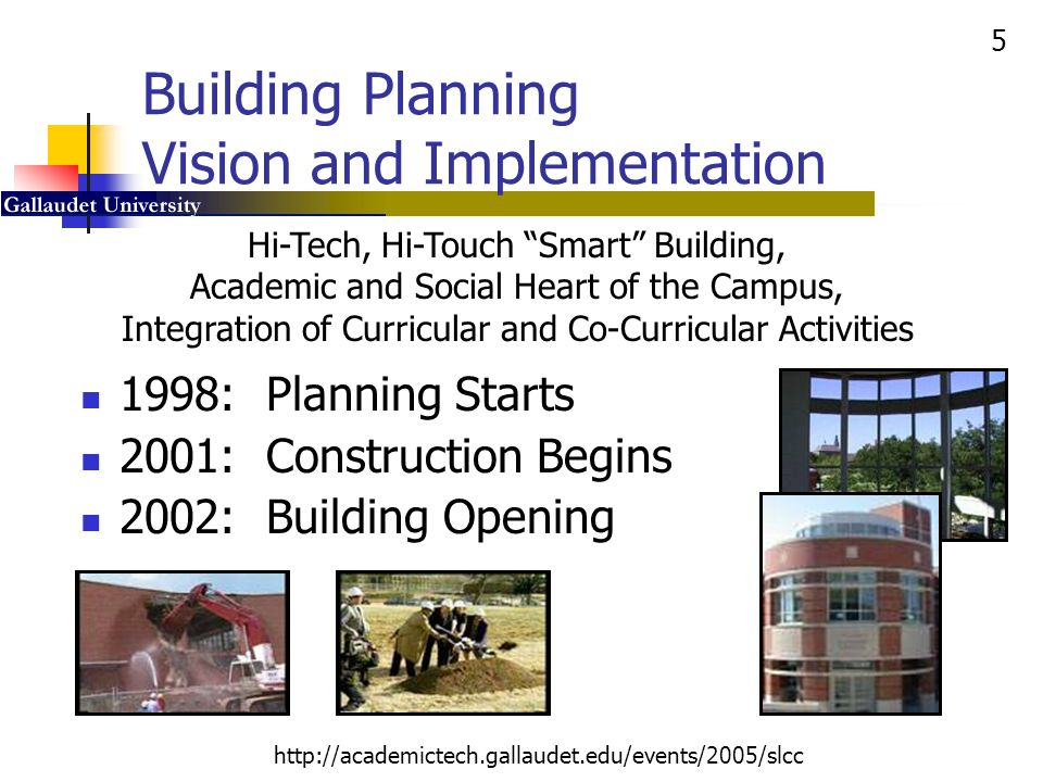 36 http://academictech.gallaudet.edu/events/2005/slcc Harkin Digital Learning Center: Student Video Suites Planning Tape-and-Go (VCR) Digital Video Creation Digital Video Editing Room Schedule Wizard 2000 Students Used Experimental Setup to Create Deaf Way II Video Productions