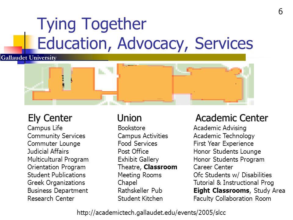 27 http://academictech.gallaudet.edu/events/2005/slcc SAC Flexible Wireless e-Classroom