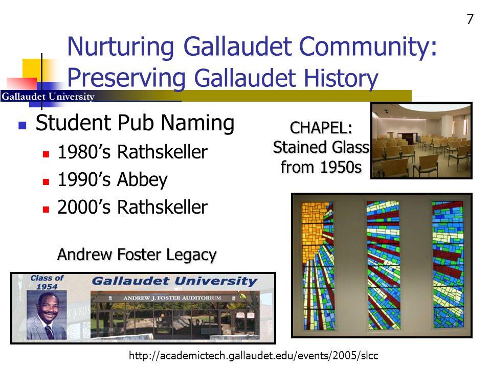 8 http://academictech.gallaudet.edu/events/2005/slcc Concept to… Concrete to… Opportunity