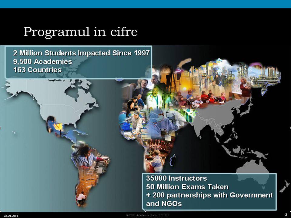 3 © 2008 Academia Cisco CREDIS 02.06.2014 3 Programul in cifre