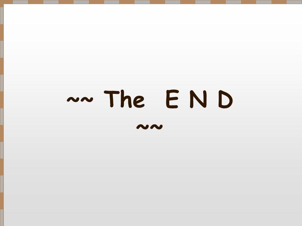 ~~ The E N D ~~