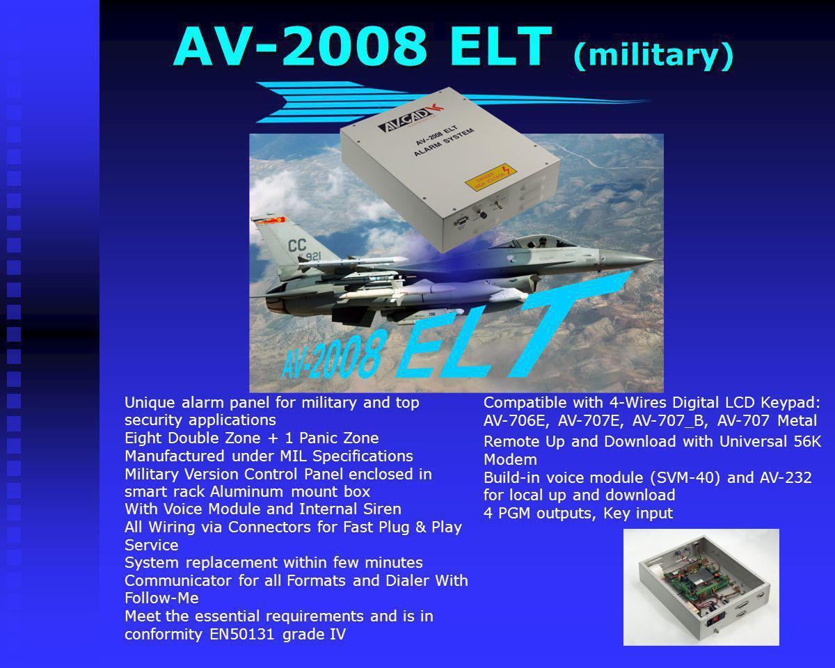 AV-2008 Dublo Compatible with 4-Wires Digital LCD Keypad: AV-706E, AV-707E, AV-707_B, AV-707 Metal Eight Double Zone + 1 Panic Zone Expandable by addi