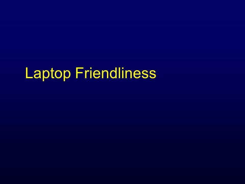 Laptop Friendliness