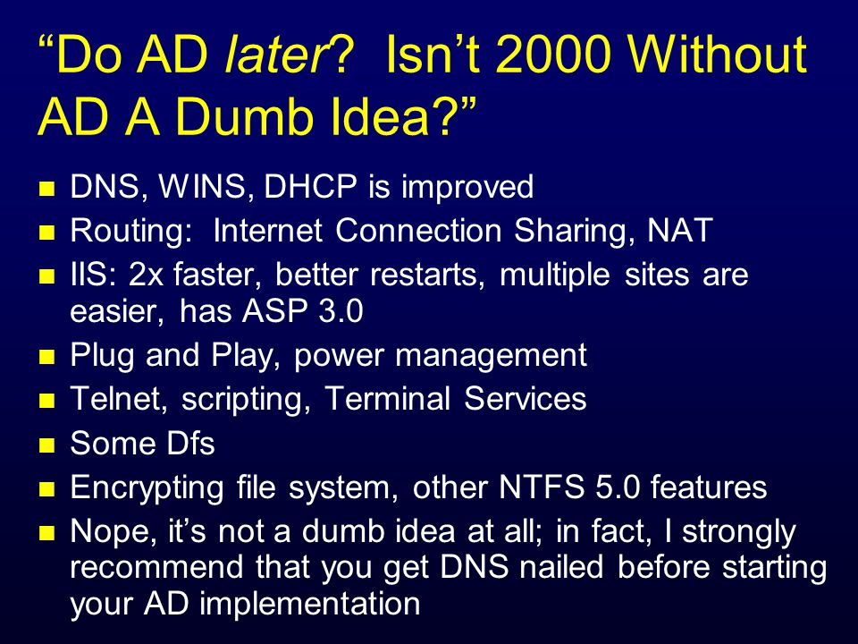 Do AD later. Isnt 2000 Without AD A Dumb Idea.