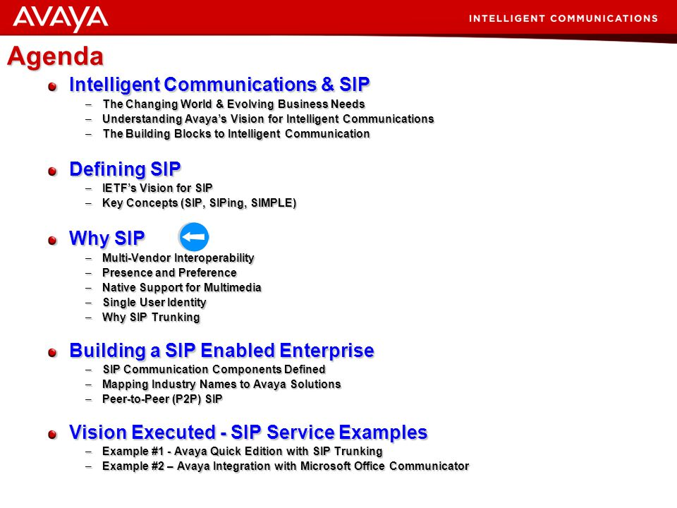 15 © 2007 Avaya Inc. All rights reserved. Shorthand Definition What is a SIP Trunk? A SIP Trunk is a single conduit pipeline for multimedia elements (