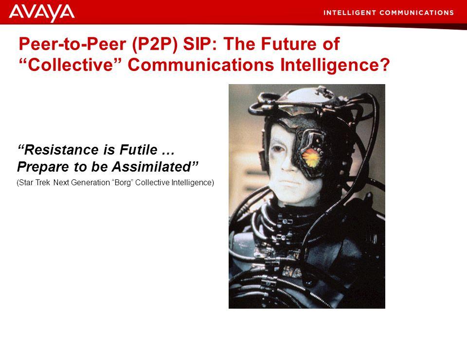 31 © 2007 Avaya Inc. All rights reserved. Peer-to-Peer (P2P) SIP