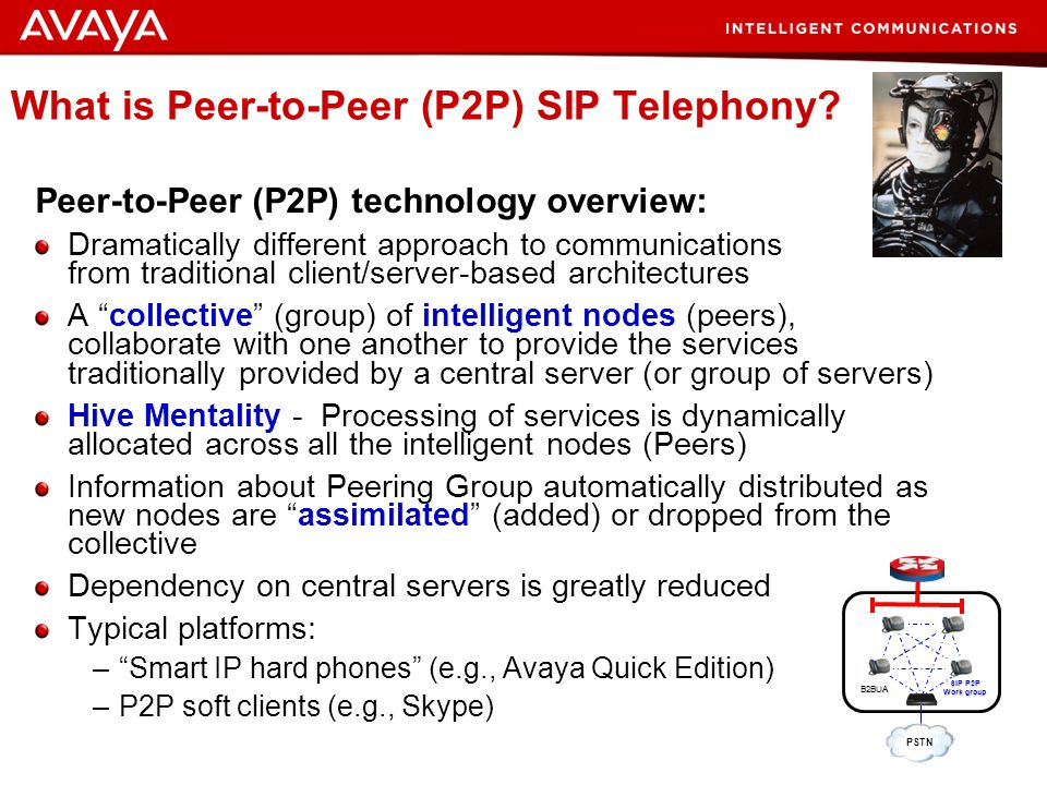 32 © 2007 Avaya Inc. All rights reserved. Peer-to-Peer (P2P) SIP: The Future of Collective Communications Intelligence? Resistance is Futile … Prepare