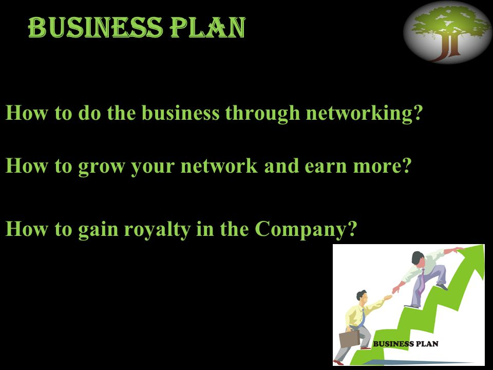 Business plan How to do the business through networking.