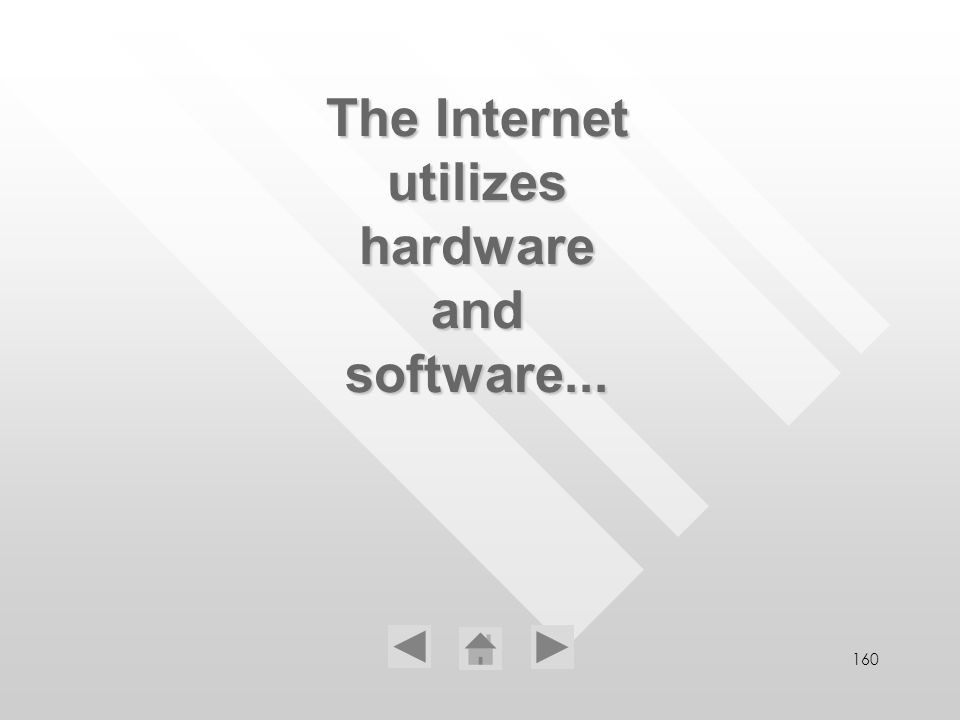 160 The Internet utilizes hardware and software...