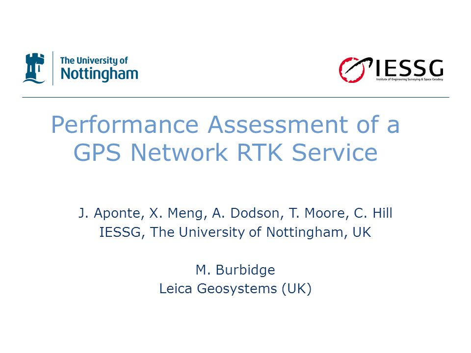 Performance Assessment of a GPS Network RTK Service J.