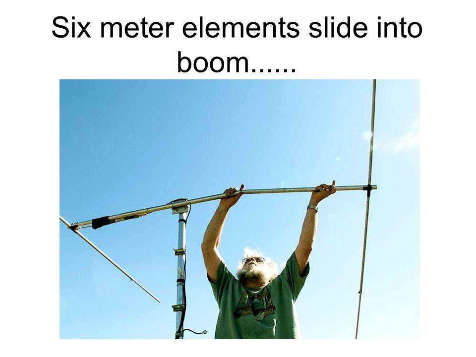 14 Six meter elements slide into boom......