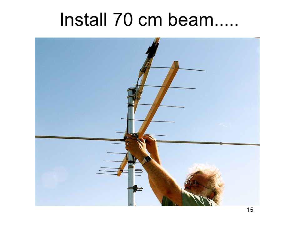 15 Install 70 cm beam.....