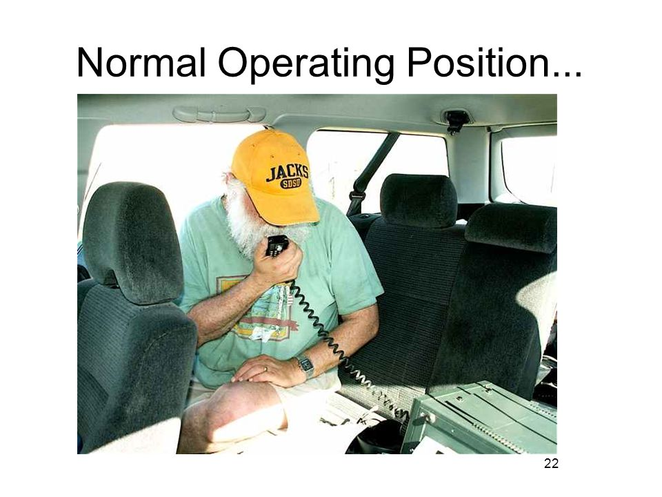 22 Normal Operating Position...