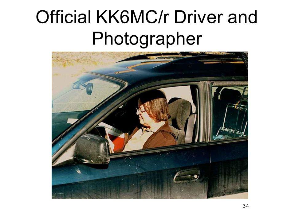 34 Official KK6MC/r Driver and Photographer
